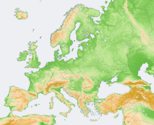 Mapa Europy Mapa Samochodowa Wyznaczanie Trasy Odległości