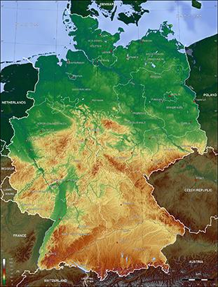 Mapa Niemiec Mapa Samochodowa Wyznaczanie Trasy Odleglosci