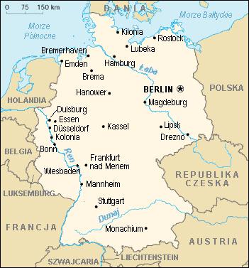 Mapa Niemiec Mapa Samochodowa Wyznaczanie Trasy Odległości