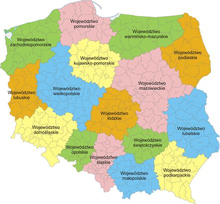 Mapa Polski Mapa Samochodowa Wyznaczanie Trasy Odległości