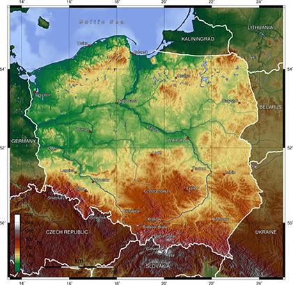 Mapa Polski • Mapa samochodowa • Wyznaczanie trasy, odległości
